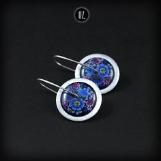 Circles Cornflower Mini - short earrings