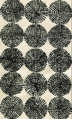 luli sanchez bw  black and white pattern dots-rounds