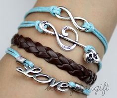 Infinite love infinite silver charm bracelet with by luckystargift, $5.19