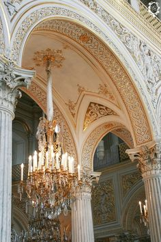 Interior detail with monumental crystal chandelier, Hermitage Museum, former Winter Palace of the Tsars, Saint Petersburg, Russia Architecture Baroque, Beautiful Architecture, Beautiful Buildings, Architecture Details, Beautiful Places, Classical Architecture, Beautiful Life, Interior Architecture, Arquitectura Wallpaper