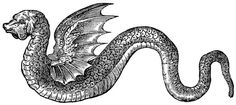 Dragon Sketches - Snake with Wings from my personal collection for you to use in your art work. Winged Serpent, Sea Serpent, Mythical Creatures, Sea Creatures, Snake Monster, Fabulous Beasts, Medieval, Sea Snake, Sketching Techniques