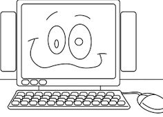 Computer Coloring Page Printable. | Colouring | Pinterest | Coloring ...