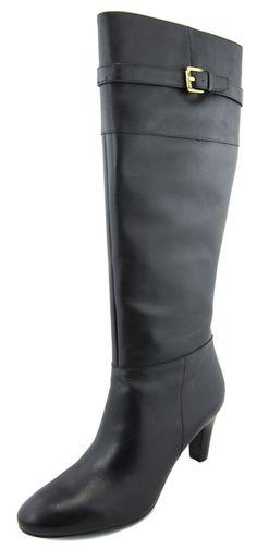 Lauren Ralph Lauren Women's Black Susie Leather Boots