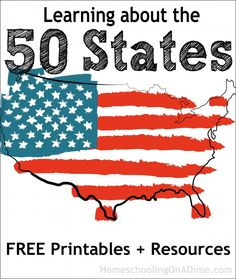 FREE 50 States Printables, Freebies and Resources