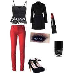 Night out by johanna-wilhelmsson on Polyvore featuring polyvore, fashion, style, Jacob Cohёn, NARS Cosmetics and Nails Inc.