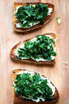 sauteed swiss chard toasts recipe