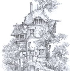 Adult Coloring Book Pages Fantasy Inspirational Mythwood the Art Of Larry Macdougall the Belle Flower Adult Coloring Book Pages, Free Coloring Pages, Coloring Books, Kids Coloring, Coloring Sheets, House Drawing, Colorful Pictures, Fantasy Art, Art Drawings