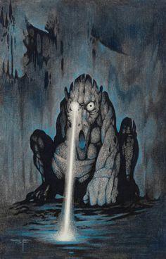 South-West Watcher. Scifi/fantasy illustrator, Stephen Fabian (1931).