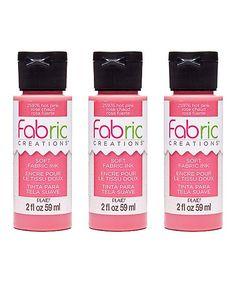Hot Pink Soft Fabric Ink - Set of Three