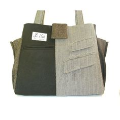 Recycled men's suit coats tote.  New style: the Jacob  by mandinka, $160