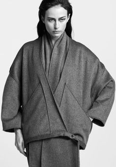 Coat And Scarf Two-Piece   Gabriela Alexandrova Paris   NOT JUST A LABEL
