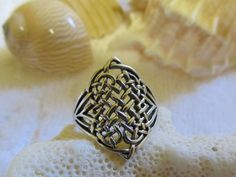 Vintage Sterling Silver Celtic Knot Ring by TreasureGrotto on Etsy, $27.00
