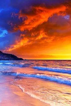 Hapuna Beach Sunset, Big Island, Hawaii