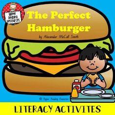 """The Perfect Hamburger"" by Alexander McCall Smith - Reading comprehension tasks Perfect Hamburger, Show Dont Tell, Hamburgers, Literacy Activities, Teaching Reading, Reading Comprehension, Grammar, The Book, Goodies"