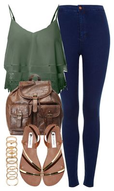 """""""Untitled #4834"""" by angela379 ❤ liked on Polyvore featuring мода, Topshop, Glamorous, Steve Madden, Forever 21 и BackToSchool"""