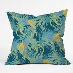 Geronimo Studio Jungle Boogie Blue Outdoor Throw Pillow | DENY Designs Home Accessories