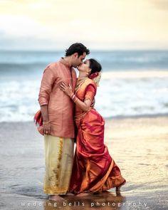This Couple had a Dreamy Pre-wedding Photoshoot in Kerala Kerala Wedding Photography, Wedding Couple Poses Photography, Couple Photoshoot Poses, Pre Wedding Photoshoot, Candid Photography, Couple Wedding Dress, Indian Wedding Couple, Wedding Couple Photos, Couple Pics