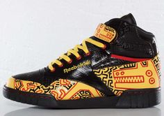 5f91df41cecb Keith Haring x Reebok Ex O Fit Plus Hi R13 Keith Haring