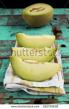 Melon for lunch - stock photo