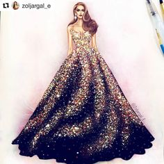 17 ideas fashion sketches dresses watercolors gowns for 2019 Dress Design Sketches, Fashion Design Drawings, Fashion Sketches, Fashion Drawing Dresses, Fashion Illustration Dresses, Fashion Dresses, Fashion Illustrations, Trendy Fashion, Fashion Art