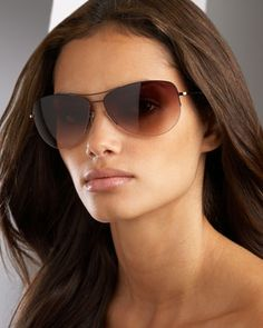 Strummer Aviator Sunglasses by Oliver Peoples at Neiman Marcus. $365