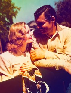 Gable / Lombard. Love. Full of colors.