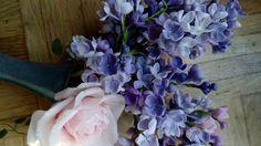 Cиреневые цветочки и их сборка МК от Риты