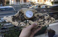 An Amazing unique piece of a handmade Driftwood Clock .The driftwood found in my island shores (Rhodes-Greece) . It is a solid and strong piece ready to use it for decoration in your bedroom , living room or wherever you think it fits.  It is the definition of the great driftwood as it has fantastic natural colors and shades. It is already treated naturally for bugs .  The clock is a simple insert quartz mechanism and works with AAA battery (not included for safety reasons) Wooden Clock, Wooden Lamp, Wooden Decor, Driftwood Centerpiece, Home Decor Pictures, Driftwood Art, Panel Art, Handmade Wooden, Wood Watch