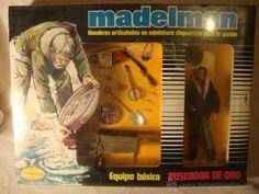 ¡LOS ORIGINALES! MADELMAN EQUIPO BASICO COMPLETO BUSCADOR DE ORO REF 503 CON RETRACTIL ORIGINAL