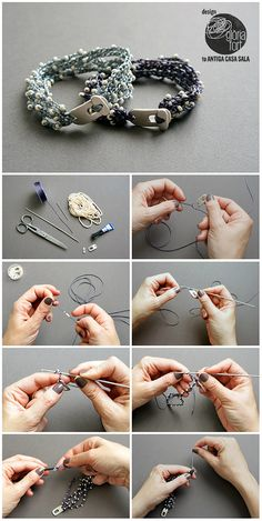 DIY Multi Strand Crochet Beaded Bracelet Tutorial. Excellent DIY by Gloria Fort with really good illustrations.