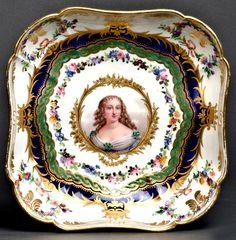 Sévres Porcelain (France) — Dish 'Mme de la Tiemoille'. D:22,4 cm, 19th Century  (637x650)
