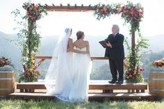 Married in THE MEADOW at The Mountain Winery in Saratoga, CA / Photo Credit LISA WHALEN PHOTOGRAPHY   / Gowns by Ju.Lee Collection