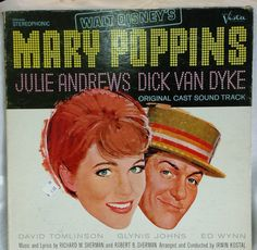 Walt Disney Mary Poppins Soundtrack LP 1964 Vista STER 4026 #Soundtrack