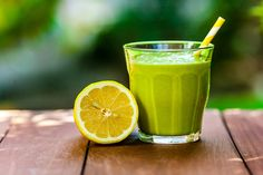 1 frozen banana 3 leaves kale, stems removed 1 lime, peeled 2 oranges, juiced ½ lemon, juiced half cup water or coconut water