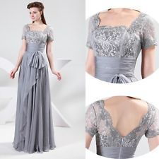 Chiffon Lace Formal Bridesmaid Wedding Ball Gown Prom Party Long Evening Dresses