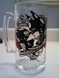 Glass etching and painting :)