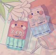 Aesthetic Drawing, Aesthetic Art, Aesthetic Anime, Japon Illustration, Cute Illustration, Cute Cartoon Wallpapers, Animes Wallpapers, Kawaii Drawings, Cute Drawings