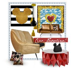"""CIAO, Topolino!"" by spotlight918 ❤ liked on Polyvore featuring interior, interiors, interior design, home, home decor, interior decorating, Altreforme, Disney, Rove Concepts and Coach"