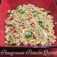 Pomegranate Pistachio Quinoa (recipe)