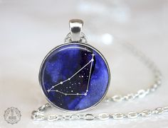 Capricorn Constellation Pendant Necklace   Capricorn Necklace Constellation Jewelry Galaxy Necklace Zodiac Necklace Space Stars Astrology by AgeOfAkuarius on Etsy