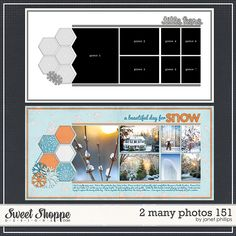 Sweet Shoppe Designs::2 Page Layout Templates::2 Many Photos 151 by Janet Phillips