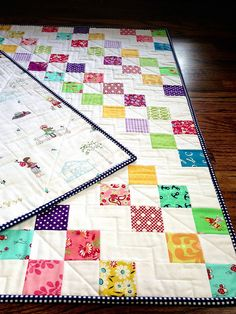 Patchwork Baby Steps Quilt Tutorial by Three Owls, via Flickr