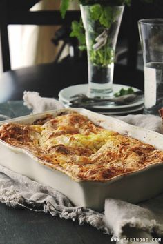 Feta Cheese Egg Casserole | www.diethood.com | Delicious Egg Casserole with a feta cheese and eggs-mixture nestled between buttery and flaky phyllo sheets. | #recipe #easter #casserole