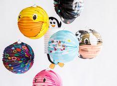 Richtig ausgestattet für den Laternenumzug mit süßer Motiv-Laterne Dots, Pink, Paper Lanterns, Animal Themes, Balloons, Simple Diy, Kawaii, Stitches, The Dot
