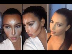 How to contour and highlight the cheeks like Kim Kardashian