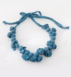 Blue beaded neck piece