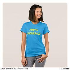 100% Swedish T-Shirt cool trendy unique t-shirt fashion design clothes Love T Shirt, T Shirt Diy, Shirt Style, Grey Shirt, T Shirt Rose, Chemise Fashion, Eclipse T Shirt, Geile T-shirts, Beau T-shirt
