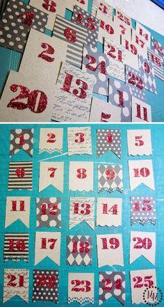 The Scrap Shoppe: Framed Advent Calendar {Homemade Christmas Decor}
