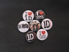ONE DIRECTION 1in buttons badges 1D HARRY LIAM ZAYN NIALL LOUIS