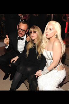 Terry Richardson, Stevie Nicks and Lady Gaga in Versace